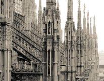 Milan Duomo tak Royaltyfri Foto