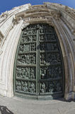 Milan 2005 Expo capital Cathedral door detail Royalty Free Stock Image
