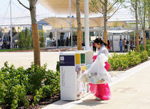Milan, expo 2015, garbage disposal Royalty Free Stock Images