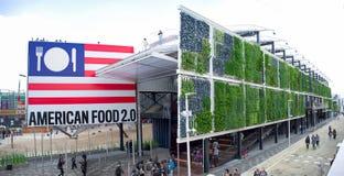 Milan Expo 2015 het paviljoen van de V.S. Stock Afbeelding