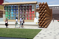 Milan expo,italy. People visiting expo 2015 milan Stock Photo