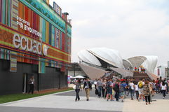 Milan Expo 2015. 2015 Expo pavilions and visitors in Milan, Italy Stock Photography