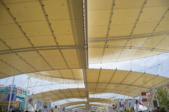Milan Expo 2015 sails coverage Stock Images