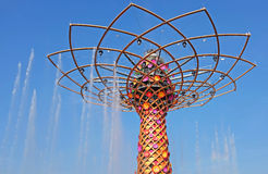 Milan, expo 2015, tree of life Stock Images