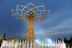 Milan expo tree of life. Milan expo world fair tree of life royalty free stock images