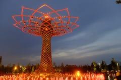 Milan expo tree of life Royalty Free Stock Photos