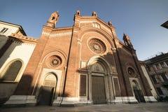 Milan: Facade of  Carmine church Stock Images
