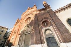 Milan: Facade of  Carmine church Stock Photography