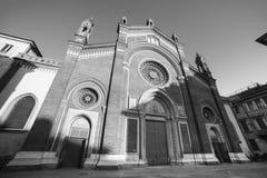 Milan: Facade of  Carmine church Royalty Free Stock Image