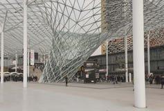 Milan Fair-Bezirksarchitekturdetail Stockbilder