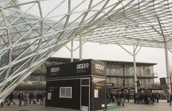 Milan Fair-districts Architecturaal detail Royalty-vrije Stock Afbeeldingen
