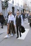 Justin oshea and veronika heilbrunner fashion week in milan Stock Photos