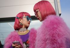 milan fashion week day 2 Stock Photo