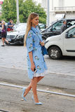 Kristina bazan Milan fashion week spring summer 2015 Royalty Free Stock Images