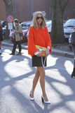 Candela novembre Milan fashion week Stock Images