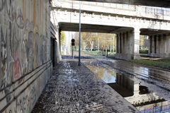 Milan the fiume seveso flood Royalty Free Stock Photography
