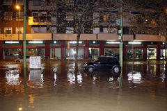Milan the fiume seveso flood Stock Photo