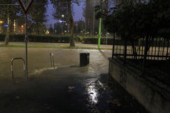 Milan the fiume seveso flood Stock Image