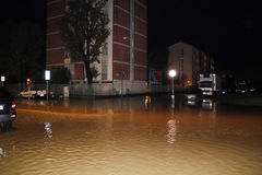 Milan the fiume seveso flood Stock Photography