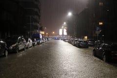 Milan the fiume seveso flood Royalty Free Stock Photos