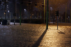 Milan the fiume seveso flood Royalty Free Stock Photo