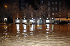 Milan the fiume seveso flood Royalty Free Stock Photo