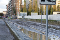 Milan the fiume seveso flood Stock Images