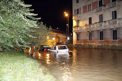 Milan the fiume seveso flood Royalty Free Stock Image