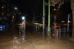 Milan the fiume seveso flood Stock Photo