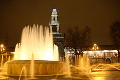 Milan Fountain Stock Photo