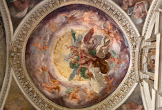 Milan - fresco from Cappella Portinari Royalty Free Stock Photography