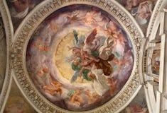 Milan - fresco from Cappella Portinari royalty free stock photography