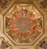 Milan - fresco from Cappella Portinari stock photos