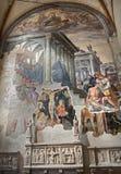 Milan - fresco from San Marco stock photos
