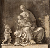 Milan - fresco of virgin Mary Royalty Free Stock Photography