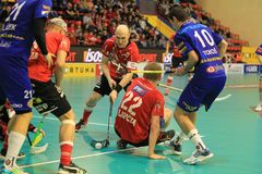 Milan Fridrich - czech floorball Royalty Free Stock Photo