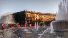 Milan fyrkantsikt Royaltyfria Bilder
