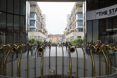 Milan, Gae Aulenti square Royalty Free Stock Images