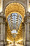 Milan Gallary Vittorio Emanuelle Royalty Free Stock Photos
