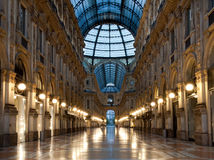 Milan Gallary Vittorio Emanuelle Royalty Free Stock Images