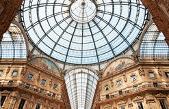 Milan, Galleria Vittorio Emanuele Stock Images