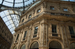 Milan 17. The Galleria Vittorio Emanuele II is one of the worlds oldest shopping malls Stock Photo
