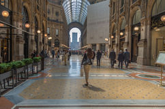 Milan 18. The Galleria Vittorio Emanuele II is one of the worlds oldest shopping malls Royalty Free Stock Photo