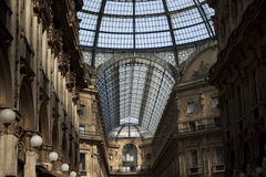 Milan gallery. Milan arcade in the Milan Vittorio Emanuele gallery Stock Photo