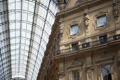 Milan gallery. Milan arcade in the Milan Vittorio Emanuele gallery Royalty Free Stock Photos