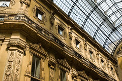 Milan Gallery. One of the most famous buildings in the world royalty free stock photo