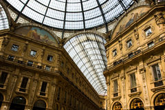 Milan Gallery. One of the most famous buildings in the world royalty free stock photos