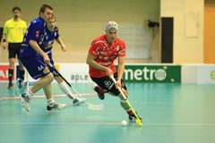 Milan Garcar in floorball Stock Photography