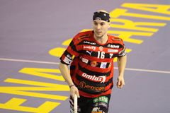 Milan Garcar - floorball player Royalty Free Stock Photos