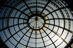 Milan glass arcade. A glass arcade of Galleria Vittorio Emanuele in Milan, Italy Stock Images